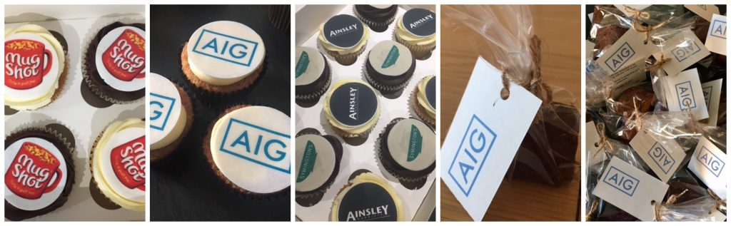 corporate branded business logo cupcakes leeds yorkshire