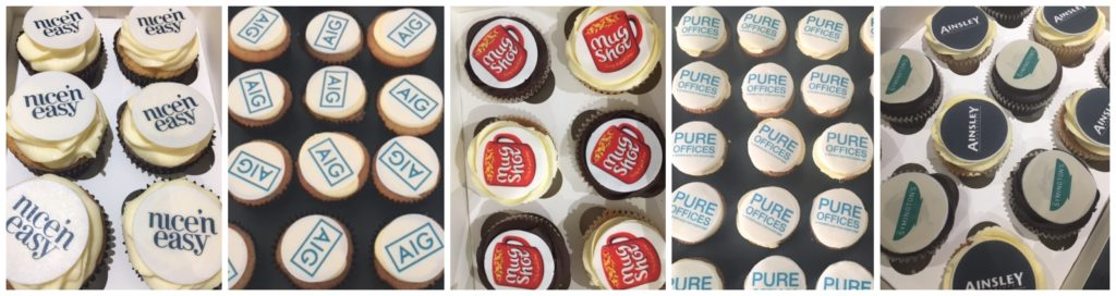 corporate logo branded cupcakes leeds yorkshire