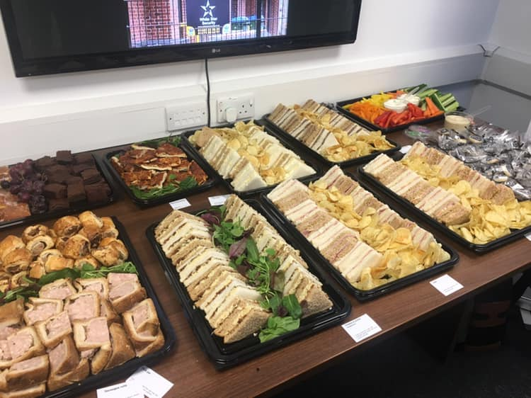 business lunch catering leeds west yorkshire